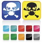 сеть цветов кнопок лоснистым предложенная черепом Стоковая Фотография