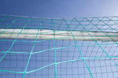 Сеть цели футбола Стоковые Фотографии RF