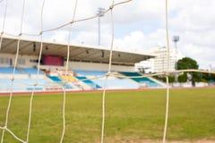 Сеть цели футбола Стоковое Фото