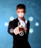 сеть человека иконы отжимая social Стоковые Фотографии RF