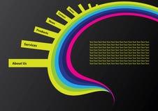сеть шаблона места конструкции Стоковые Изображения RF