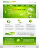 сеть шаблона плана eco зеленая Стоковые Фотографии RF