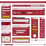 сеть шаблона рамки элемента конструкции красная Стоковая Фотография