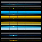 сеть шаблонов навигации aqua Стоковые Изображения RF