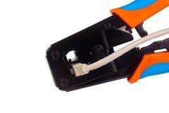 сеть щипцов кабеля Стоковое Изображение RF
