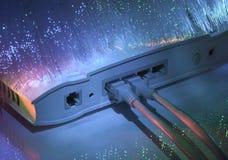 сеть эпицентра деятельности кабеля Стоковое Изображение RF