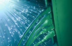 сеть эпицентра деятельности кабеля Стоковое Фото