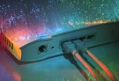 сеть эпицентра деятельности кабеля Стоковая Фотография