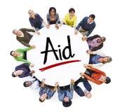 Сеть людей социальные и концепция помощи Стоковые Изображения