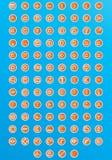 сеть 120 икон иллюстрация вектора
