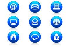 сеть 2 икон кнопок лоснистая Стоковые Фотографии RF