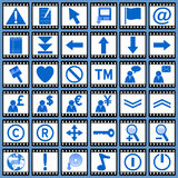 сеть 2 икон пленки Стоковые Изображения