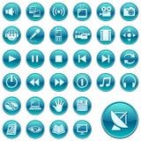 сеть 3 икон кнопок круглая Стоковые Изображения