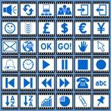 сеть 3 икон пленки Стоковое Изображение RF