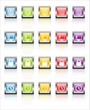 Сеть 3 икон MetaGlass (вектор) стоковые фотографии rf