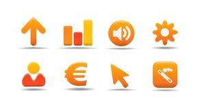 сеть 3 серий тыквы иконы установленная Стоковое Изображение RF