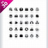 сеть 30 икон иллюстрация штока