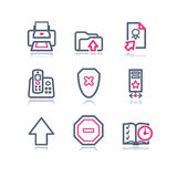 сеть 4 икон контура цвета Стоковая Фотография RF