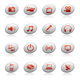 сеть 4 икон эллипсиса кнопок Стоковые Изображения