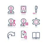 сеть 6 икон контура цвета Стоковые Изображения