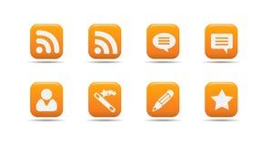 сеть 7 серий иконы абрикоса установленная Стоковое Фото