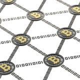Сеть Bitcoin одноранговая Стоковое Фото