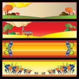 сеть colourfull знамен Бесплатная Иллюстрация