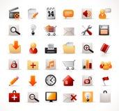 сеть mutimedia икон Стоковое Изображение