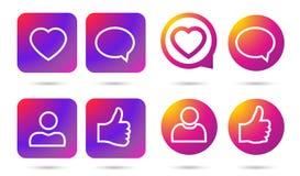 Сеть Social значка градиента Стоковые Фото