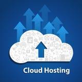 Сеть social облака Вычислять-загрузки облака иллюстрация вектора