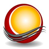 сеть swoosh места логоса 2 кругов иллюстрация вектора