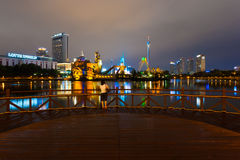 Палуба Сеул Корея парка атракционов мира Lotte женщины Стоковые Изображения