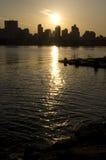 Сеул на заходе солнца Стоковые Изображения