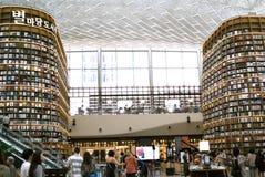 СЕУЛ, Южная Корея, 27-ое августа 2017, библиотека площади ByeollMadang Starfield Coex Стоковые Изображения RF