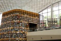 СЕУЛ, Южная Корея, 27-ое августа 2017, библиотека площади ByeollMadang Starfield Coex Стоковые Изображения