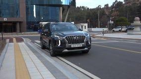 Сеул, Южная Корея 15-ое декабря 2018 Новый палисад 2018 Hyundai акции видеоматериалы
