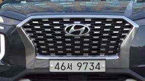Сеул, Южная Корея 15-ое декабря 2018 Новый палисад 2018 Hyundai сток-видео