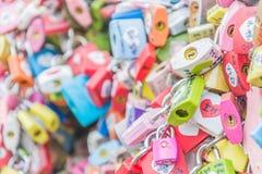 СЕУЛ, ЮЖНАЯ КОРЕЯ - 29-ое октября: Церемония ключа влюбленности на n Seo Стоковые Изображения RF