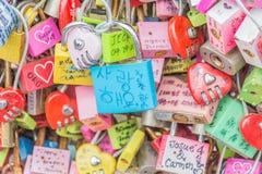 СЕУЛ, ЮЖНАЯ КОРЕЯ - 29-ое октября: Церемония ключа влюбленности на n Seo Стоковое фото RF