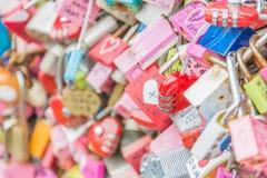 СЕУЛ, ЮЖНАЯ КОРЕЯ - 29-ое октября: Церемония ключа влюбленности на n Seo Стоковое Изображение RF
