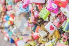 СЕУЛ, ЮЖНАЯ КОРЕЯ - 29-ое октября: Церемония ключа влюбленности на n Seo Стоковые Фото