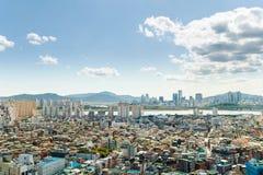 Сеул, Южная Корея - SEPT. 17, 2017: Фото ландшафта города Сеула, Южная Корея Стоковая Фотография