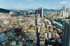 Сеул, Южная Корея - SEPT. 17, 2017: Фото ландшафта города Сеула, Южная Корея Стоковые Фотографии RF