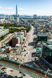 Сеул, Южная Корея - SEPT. 17, 2017: Фото ландшафта города Сеула, Южная Корея Стоковые Изображения RF