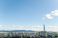 Сеул, Южная Корея - SEPT. 17, 2017: Фото ландшафта города Сеула, Южная Корея Стоковое фото RF
