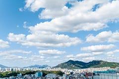 Сеул, Южная Корея - SEPT. 17, 2017: Фото ландшафта города Сеула, Южная Корея Стоковые Фото