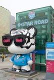Сеул, Южный Корея 10,2017 -го СЕНТЯБРЬ, Дорога звезды k в Южной Корее gangnam Стоковые Изображения RF