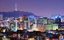 Сеул, горизонт Южной Кореи Стоковые Изображения