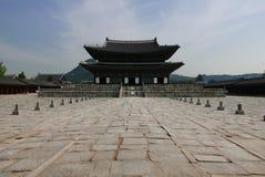 Сеул, Корея 17-ое мая 2017: Здание дворца Gyeongbokgung Стоковые Фото