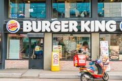 Сеул, Южная Корея - 8-ое марта 2016: Restau гамбургера Burger King Стоковая Фотография RF